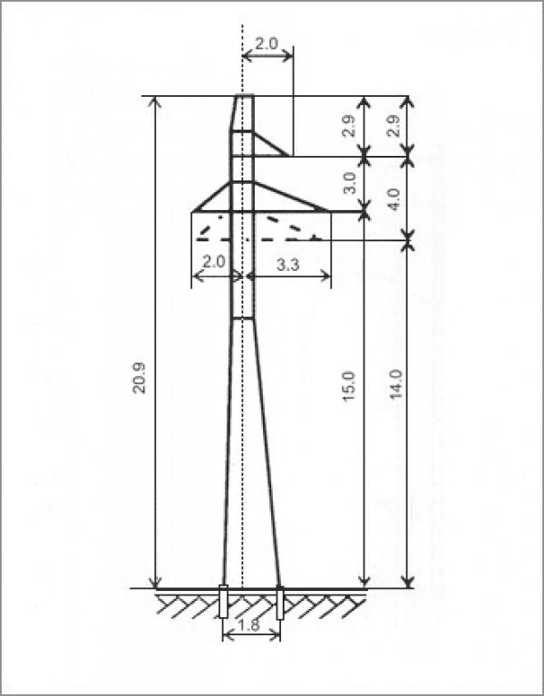 Опора лэп п35 мособлкомплект завод жби